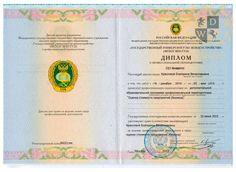 Диплом о высшем образовании Краснова Е.В.