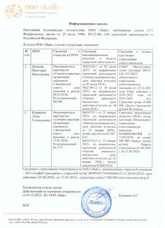Информационное письмо о соответствии ФЗ 135