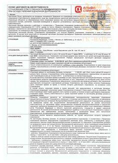 Страхование ответственности ООО «ВАЙС» (стр. 1)